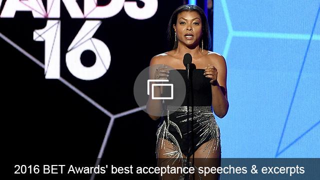 BET Awards acceptance speech slideshow