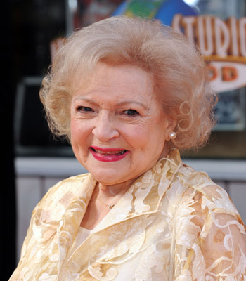 Betty White signs Lindt chocolate bunny for austism speaks