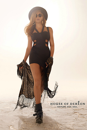 Beyonce in a House of Dereon Ad