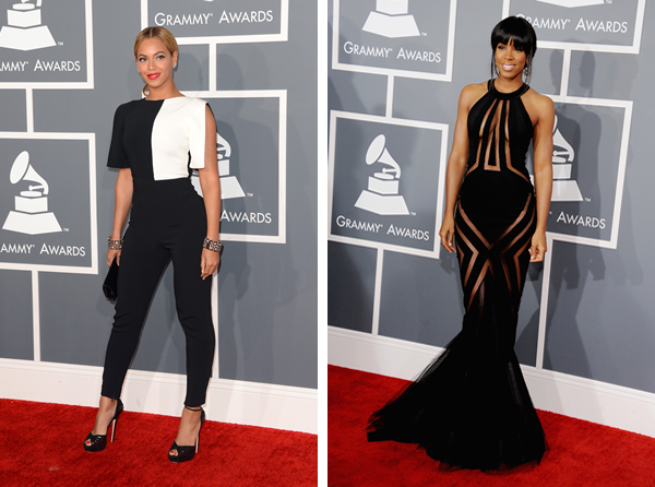 Beyonc And Kelly Rowland Dominate The Grammys Red Carpet Sheknows