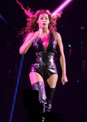 Beyonce onstage in Birmingham