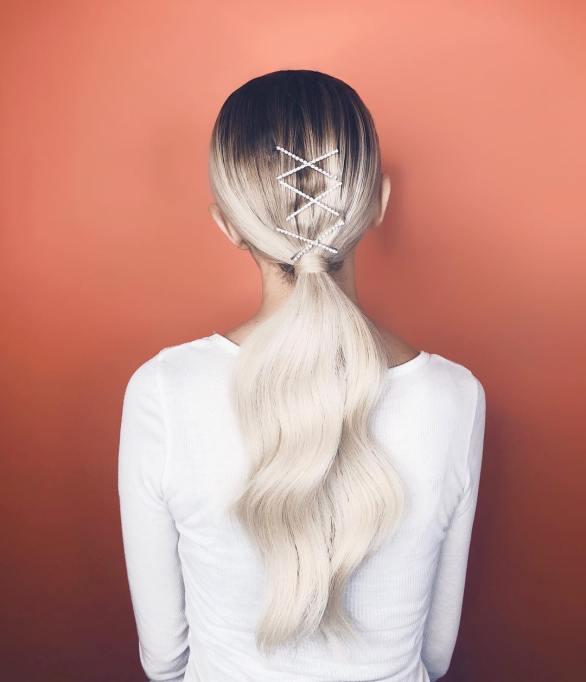 Justine Marjan basic ponytail