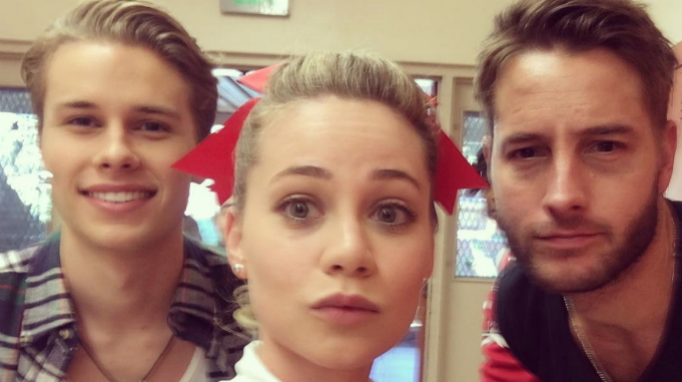 Logan Shroyer, Amanda Leighton, Justin Hartley, 'This Is Us' Behind the Scenes