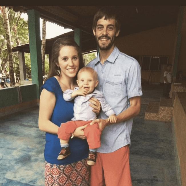 Derick Dillard and Jill Duggar and their son Israel