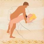 The drop box sex position illustration