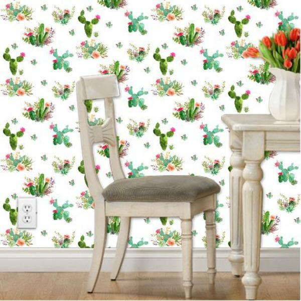 Western Flowers Wallpaper