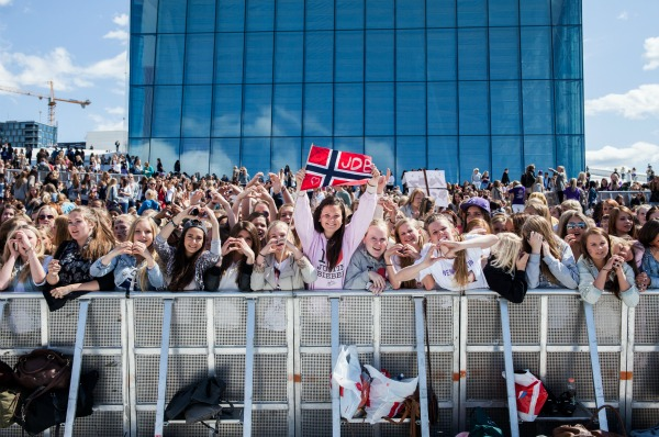 Justin Bieber concert in Norway