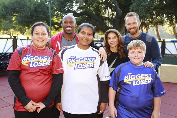 Biggest Loser contestants and trainers