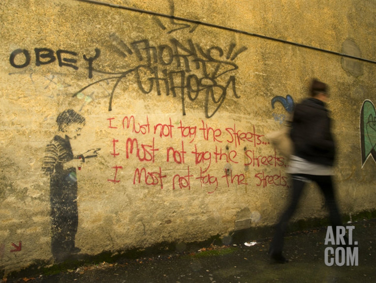 Anti-graffiti photographic print by Bill Hatcher