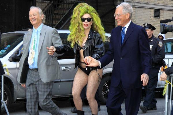 Bill Murray Lady Gaga David Letterman