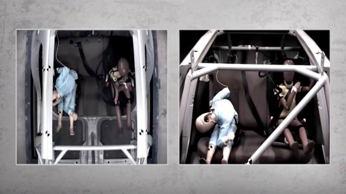 Booster seat crash test reveals serious