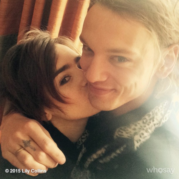Lily Collins instagram with Jamie Campbell Bower