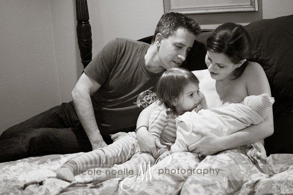 Birth photo of family