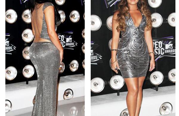 Fashion face-off: Kim Kardashian vs. Demi