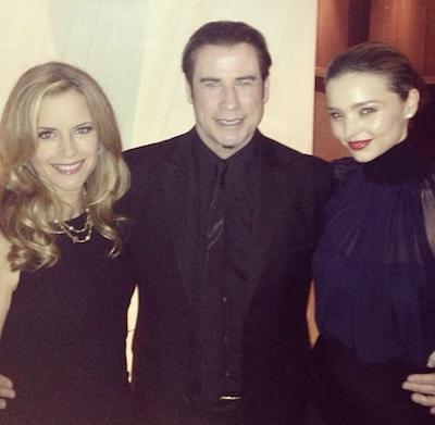 John Travolta and Miranda Kerr party