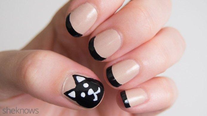 Black Cat Nails Are a Fun