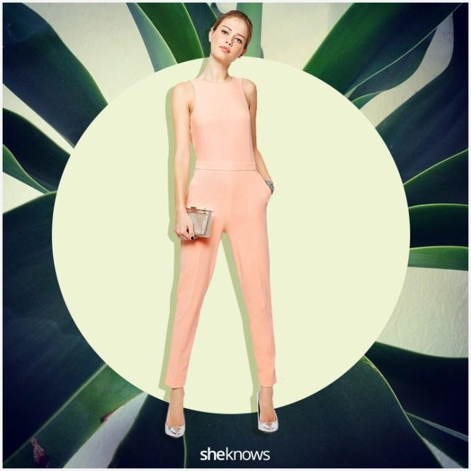 Pale pink summer jumpsuit