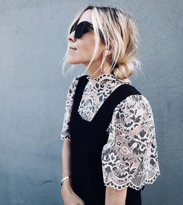 Model-Approved Hairstyle Ideas to Copy This Summer: Jacey Lenae Duprie's messy bun   Summer Hair