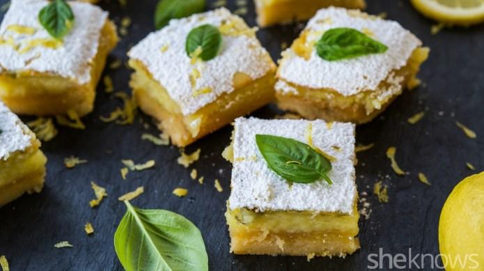 Basil makes classic lemon bars taste
