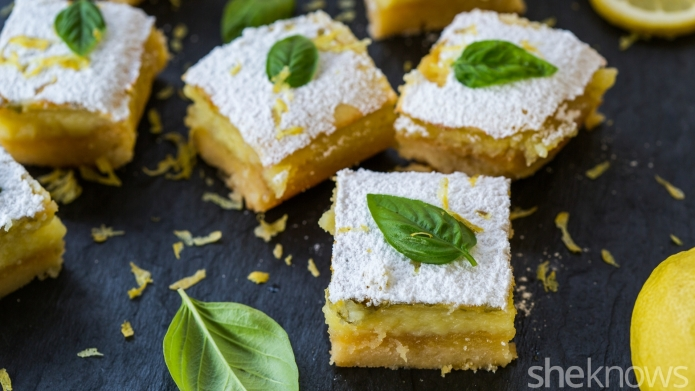 Basil makes classic lemon bars taste