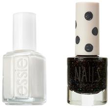 Black and white nail polish colors