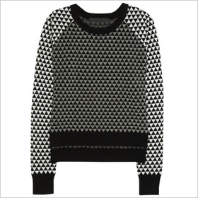 Black and white raphic sweater