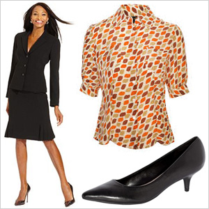 Black and orange for the office