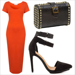Black and orange for date night