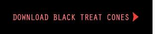 Download the printable black Halloween treat cones