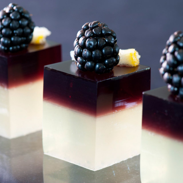 blackberry bramble jello shots
