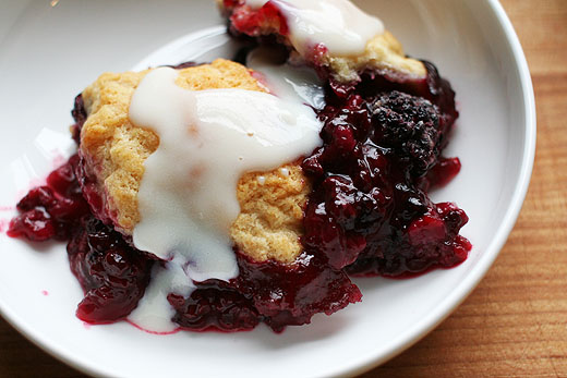 Blackberry sonker with dip