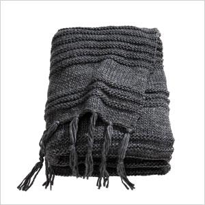 Chunky-knit blanket