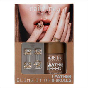 Bling it on leather and skulls nail kit