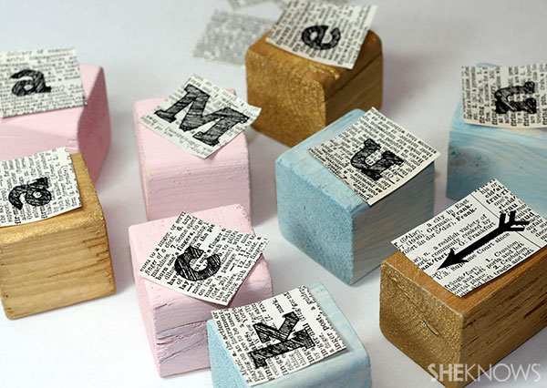 Wooden name blocks 5