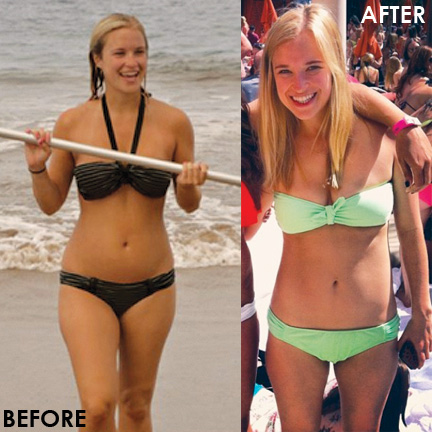 The Blonde Vegan admits battle with orthorexia -- Before and After photo