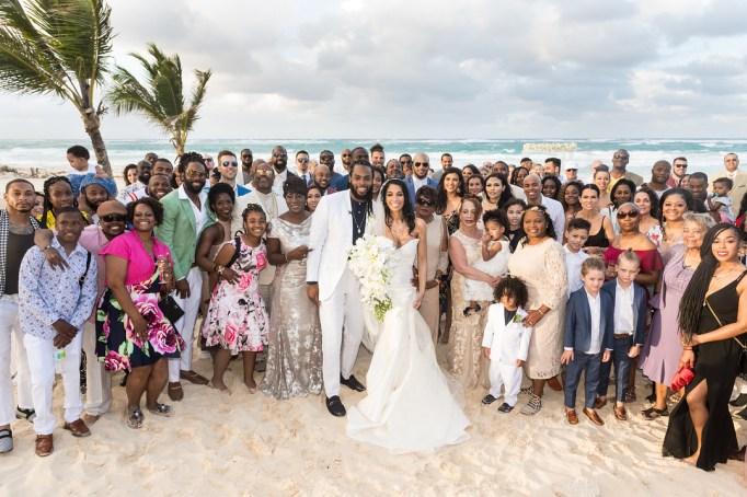 Celebrity Weddings Richard Sherman and Ashley Moss