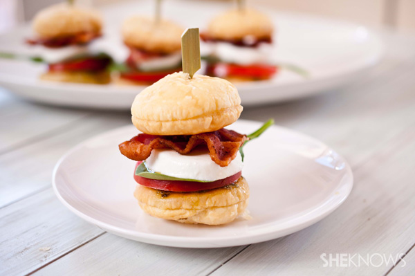 BLT caprese sliders