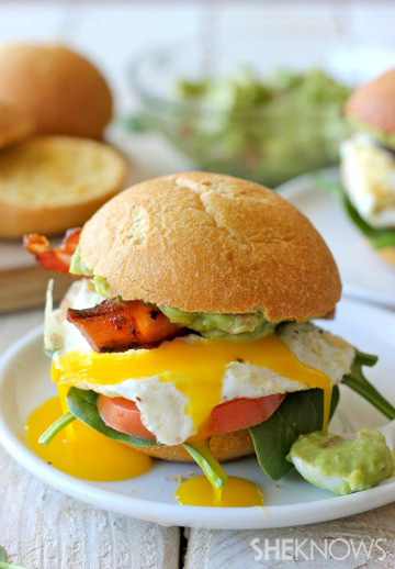 Egg and guacamole BLT