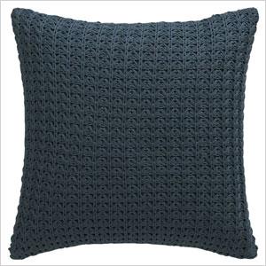blue knit pillow