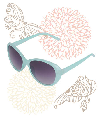 Teal sunglasses, $5.80 at Forever 21