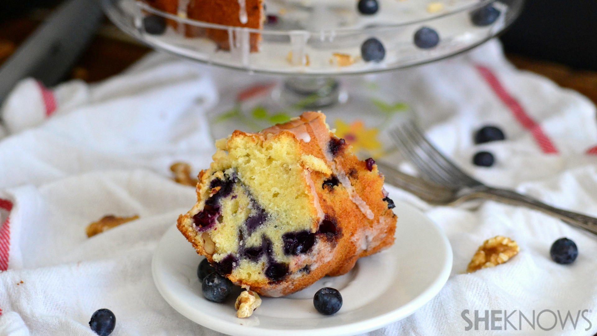 Blueberry beer and brown butter bundt cake