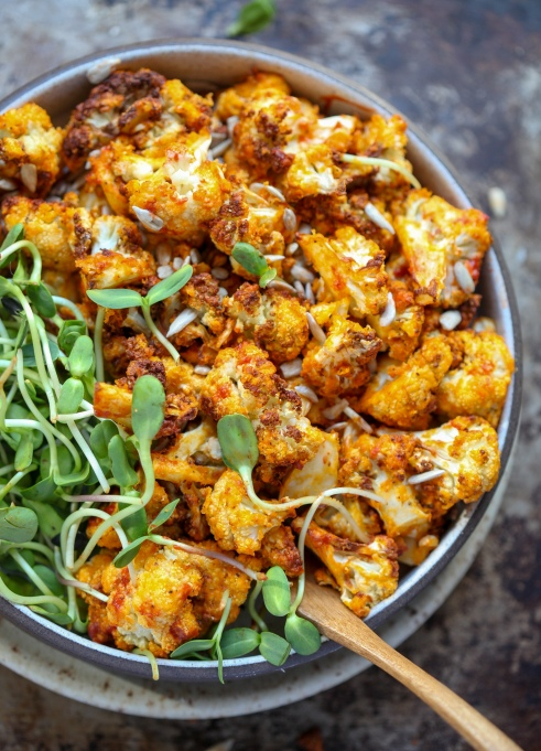 Air Fryer Buffalo Cauliflower