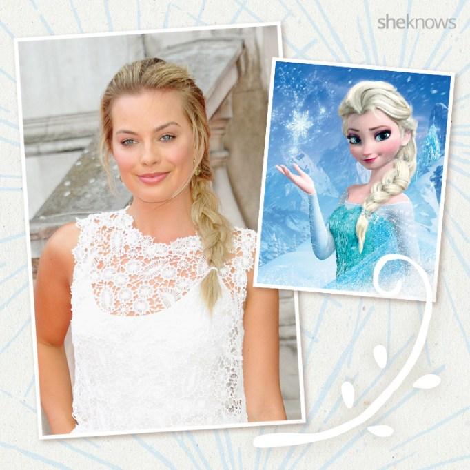 Margot Robbie as Disney princess Elsa