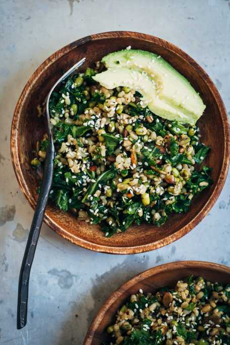 brown rice kale salad