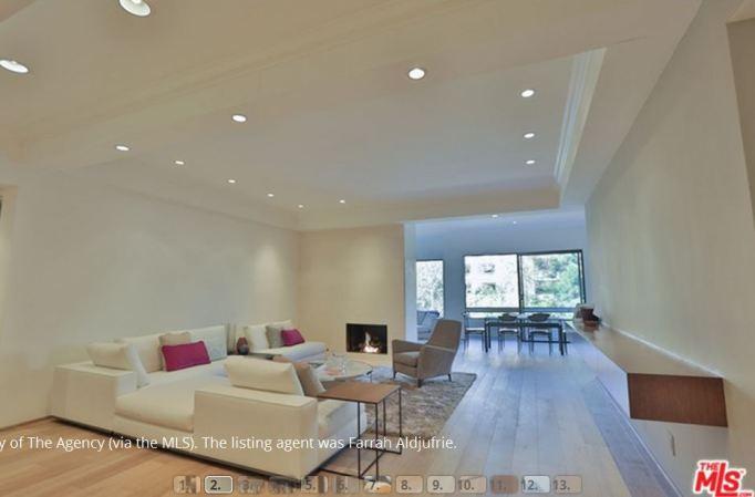 Kris Jenner condo living room