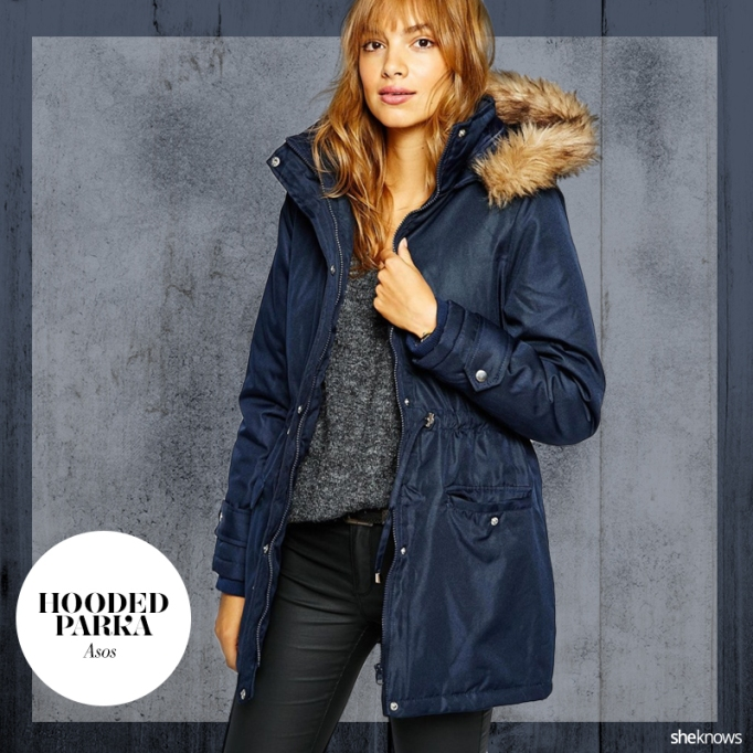 Warm fall jacket with hood
