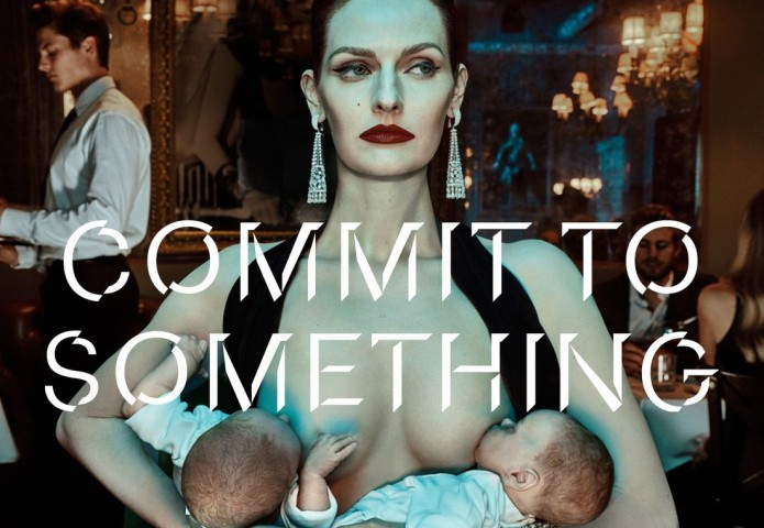 Model breastfeeding in controversial gym ad