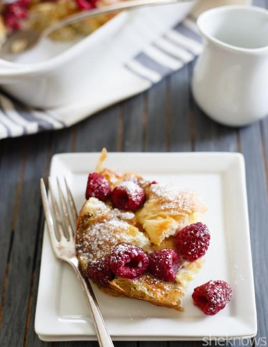 Easy Make-Ahead Breakfast Recipes: Raspberry and cream breakfast bake