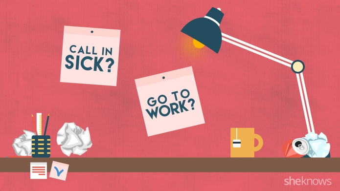 Flowchart: Should you go to work