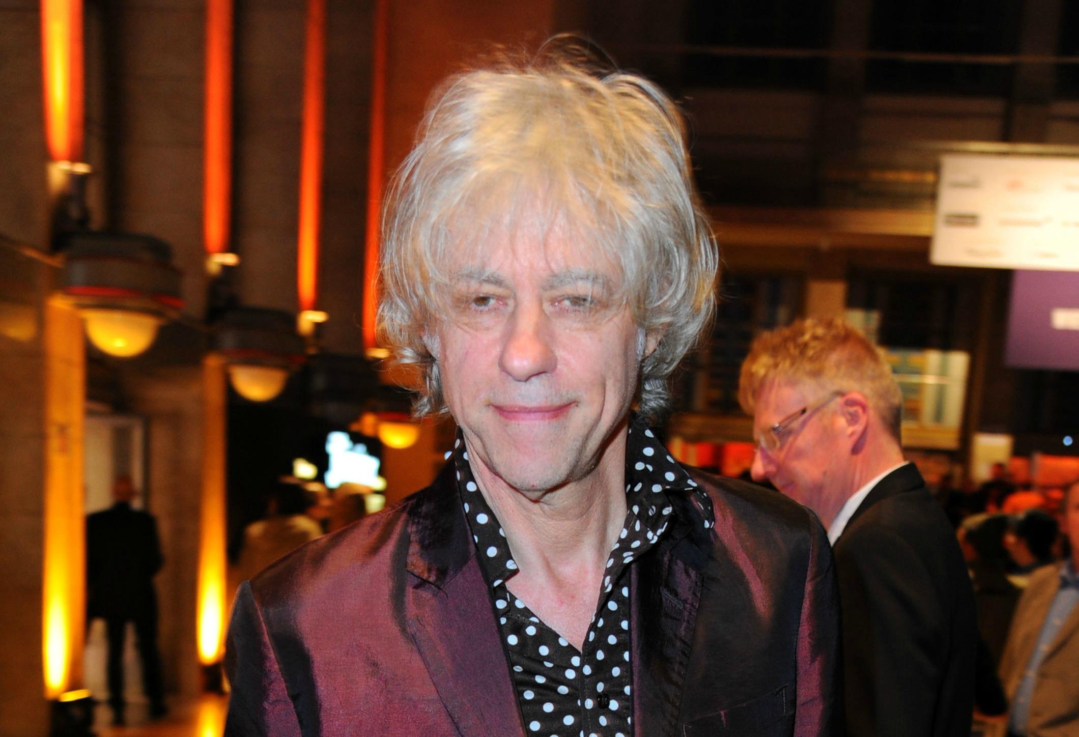 Bob Geldof is engaged to his girlfriend of 18 years Jeanne Marine